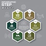 Επιχειρησιακή έννοια με τις 6 επιλογές, τα μέρη, βήματα ή διαδικασίες μπορέστε Στοκ φωτογραφίες με δικαίωμα ελεύθερης χρήσης