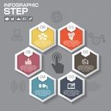 Επιχειρησιακή έννοια με τις 6 επιλογές, τα μέρη, βήματα ή διαδικασίες μπορέστε Στοκ Εικόνες