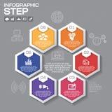 Επιχειρησιακή έννοια με τις 6 επιλογές, τα μέρη, βήματα ή διαδικασίες Στοκ φωτογραφία με δικαίωμα ελεύθερης χρήσης