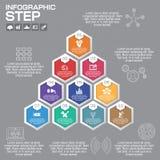 Επιχειρησιακή έννοια με τις 10 επιλογές, τα μέρη, βήματα ή διαδικασίες Στοκ φωτογραφία με δικαίωμα ελεύθερης χρήσης