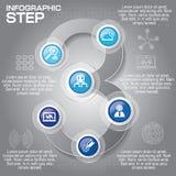 Επιχειρησιακή έννοια με τις 6 επιλογές, τα μέρη, βήματα ή διαδικασίες μπορέστε Στοκ φωτογραφία με δικαίωμα ελεύθερης χρήσης