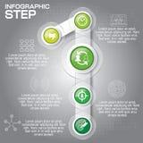 Επιχειρησιακή έννοια με τις 5 επιλογές, τα μέρη, βήματα ή διαδικασίες μπορέστε Στοκ Εικόνα