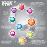 Επιχειρησιακή έννοια με τις 9 επιλογές, τα μέρη, βήματα ή διαδικασίες μπορέστε Στοκ εικόνες με δικαίωμα ελεύθερης χρήσης