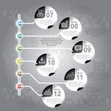 Επιχειρησιακή έννοια με τις 6 επιλογές, τα μέρη, βήματα ή διαδικασίες μπορέστε Στοκ Εικόνα