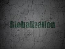 Επιχειρησιακή έννοια: Παγκοσμιοποίηση στο υπόβαθρο τοίχων grunge στοκ εικόνα με δικαίωμα ελεύθερης χρήσης