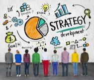Επιχειρησιακή έννοια προγραμματισμού μάρκετινγκ στόχου ανάπτυξης στρατηγικής Στοκ εικόνες με δικαίωμα ελεύθερης χρήσης