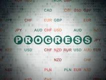 Επιχειρησιακή έννοια: Πρόοδος στο υπόβαθρο εγγράφου ψηφιακών στοιχείων στοκ εικόνα με δικαίωμα ελεύθερης χρήσης