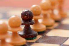 Επιχειρησιακή έννοια σκακιού, επιτυχία ηγετών Στοκ φωτογραφία με δικαίωμα ελεύθερης χρήσης