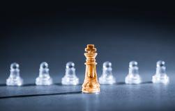 Επιχειρησιακή έννοια σκακιού Στοκ Φωτογραφίες