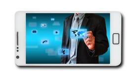 Επιχειρησιακή έννοια στα κινητά τηλέφωνα απεικόνιση αποθεμάτων