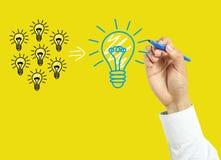 Επιχειρησιακή έννοια σχεδίων χεριών επιχειρηματιών στοκ εικόνες