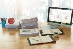 Επιχειρησιακή έννοια της εργασίας γραφείων Στοκ φωτογραφία με δικαίωμα ελεύθερης χρήσης