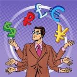 Επιχειρησιακή έννοια χρημάτων ταχυδακτυλουργίας επιχειρηματιών ελεύθερη απεικόνιση δικαιώματος