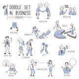 Επιχειρησιακή έννοια doodle Στοκ Φωτογραφίες