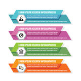 Επιχειρησιακή έννοια Infographic - χρωματισμένα οριζόντια διανυσματικά εμβλήματα Πρότυπο Infographic στοιχεία τέσσερα σχεδίου ανα Στοκ φωτογραφία με δικαίωμα ελεύθερης χρήσης