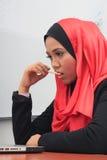 Επιχειρησιακή έννοια Muslimah Στοκ Φωτογραφίες