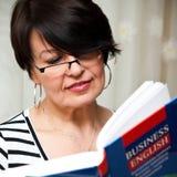 Επιχειρησιακή αγγλική εκμάθηση Στοκ φωτογραφία με δικαίωμα ελεύθερης χρήσης