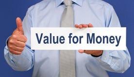 Επιχειρησιακή αξία για τα χρήματα στοκ εικόνα