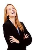 επιχειρησιακή γελώντας γυναίκα στοκ εικόνες