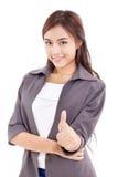 Επιχειρησιακή γυναίκα, θηλυκός εκτελεστικός δίνοντας αντίχειρας επάνω στη χειρονομία χεριών στοκ φωτογραφία με δικαίωμα ελεύθερης χρήσης