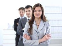 Επιχειρησιακή γυναίκα και επιχειρησιακή ομάδα Στοκ Εικόνα