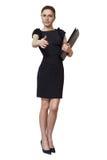 Επιχειρησιακή γυναίκα με τη γραμματοθήκη Στοκ φωτογραφία με δικαίωμα ελεύθερης χρήσης