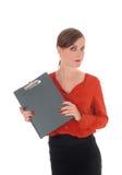 Επιχειρησιακή γυναίκα με τη γραμματοθήκη Στοκ Εικόνα