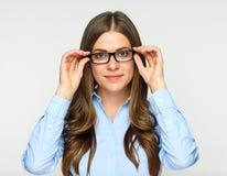 Επιχειρησιακή γυναίκα με eyeglasses Στοκ φωτογραφίες με δικαίωμα ελεύθερης χρήσης