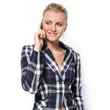 Επιχειρησιακή γυναίκα που μιλά στο τηλέφωνο Στοκ φωτογραφίες με δικαίωμα ελεύθερης χρήσης