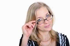 Επιχειρησιακή γυναίκα στα γυαλιά στοκ φωτογραφία με δικαίωμα ελεύθερης χρήσης