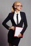 Επιχειρησιακή γυναίκα στα γυαλιά Στοκ Εικόνες