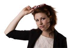 Επιχειρησιακή γυναίκα στα γυαλιά Στοκ Εικόνα