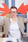 Επιχειρησιακή γυναίκα στην αρχή Στοκ Εικόνα