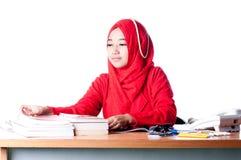 Επιχειρησιακή γυναίκα στην εργασία Στοκ Εικόνα