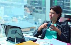 Επιχειρησιακή γυναίκα στο γραφείο Στοκ Εικόνα