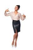Επιχειρησιακή γυναίκα στο πλήρες μήκος που δείχνει σε την Στοκ εικόνα με δικαίωμα ελεύθερης χρήσης
