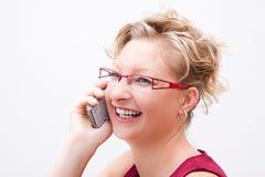 Επιχειρησιακή γυναίκα στο τηλέφωνο στοκ εικόνες με δικαίωμα ελεύθερης χρήσης