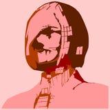 Επιχειρησιακή γυναίκα Zombie Διανυσματική απεικόνιση στο λαϊκό ύφος τέχνης ελεύθερη απεικόνιση δικαιώματος