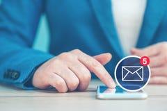 Επιχειρησιακή επικοινωνία SMS Στοκ εικόνα με δικαίωμα ελεύθερης χρήσης