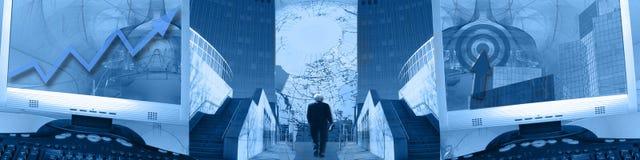 επιχειρησιακή επιτυχία εμβλημάτων που ο ευρύς κόσμος Στοκ Εικόνα