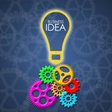 Επιχειρησιακή ιδέα με τα εργαλεία χρώματος και τα διαφανή εργαλεία Στοκ φωτογραφίες με δικαίωμα ελεύθερης χρήσης