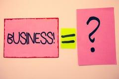 Επιχειρησιακή κλήση κειμένων γραφής Έννοια που σημαίνει το εταιρικό Occupation Entrepreneur Company ροζ μηνυμάτων ιδεών ειδικότητ Στοκ Εικόνα