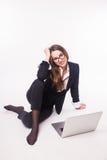 Επιχειρησιακή κυρία, τηλεφωνικό κέντρο Στοκ φωτογραφία με δικαίωμα ελεύθερης χρήσης