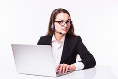 Επιχειρησιακή κυρία, τηλεφωνικό κέντρο Στοκ Εικόνα