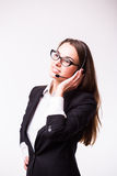 Επιχειρησιακή κυρία, τηλεφωνικό κέντρο Στοκ εικόνα με δικαίωμα ελεύθερης χρήσης