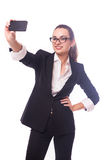 Επιχειρησιακή κυρία selfie Στοκ Εικόνες