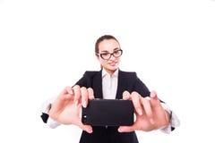 Επιχειρησιακή κυρία selfie Στοκ φωτογραφία με δικαίωμα ελεύθερης χρήσης