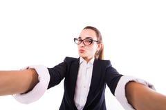 Επιχειρησιακή κυρία selfie Στοκ Φωτογραφίες