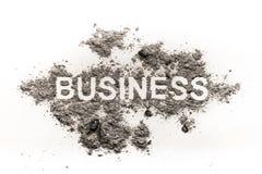 Επιχειρησιακή λέξη στο ρύπο ως οικονομία ή οικονομικό εγκληματία Στοκ φωτογραφία με δικαίωμα ελεύθερης χρήσης