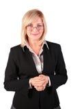 επιχειρησιακή μέσης ηλικίας θέτοντας γυναίκα Στοκ φωτογραφία με δικαίωμα ελεύθερης χρήσης